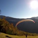 Chalais - decollage dos voile - Mathieu B